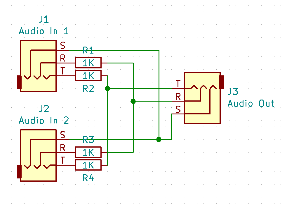 Hacky Headphone Mixer